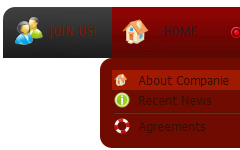 dropdown menue css menu transparent